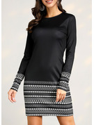 Striped Bodycon Long Sleeves Mini Casual Dresses