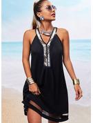 Shift Sleeveless Mini Casual Dresses