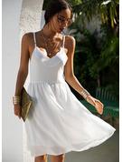 Sólido Vestido línea A Sin mangas Mini Casual Tipo Vestidos de moda