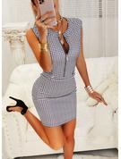 Print Bodycon Sleeveless Mini Casual Elegant Dresses