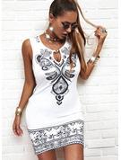 Print Bodycon Sleeveless Mini Casual Dresses