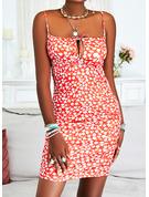 Print Backless Bodycon Sleeveless Mini Sexy Vacation Type Dresses