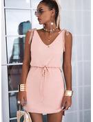 Sólido Cubierta Sin mangas Mini Casual Vestidos de moda