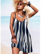 Impresión Vestidos sueltos Sin mangas Midi Casual Tipo Vestidos de moda