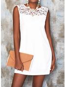 Blonder Solid Skiftekjoler Ærmeløs Mini Elegant Mode kjoler