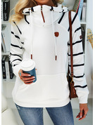 Striped Long Sleeves Hoodie