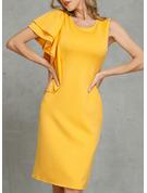 Solid Bodycon Sleeveless Midi Casual Elegant Pencil Dresses