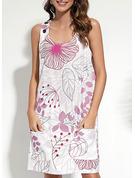 Floral Print Shift Sleeveless Mini Casual Tank Dresses