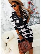 Print Bodycon Long Sleeves Mini Casual Elegant Dresses