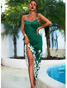 Blommig Print A-linjeklänning Ärmlös Maxi Fritids Semester Typ Modeklänningar