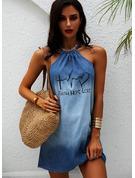 Impresión Vestidos sueltos Sin mangas Mini Juan Casual Vestidos de moda