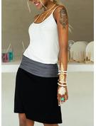 Color Block Pouzdrové Bezrukávů Mini Neformální Dovolená Typ Módní šaty