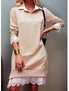 Lapel Casual Long Lace Sweaters