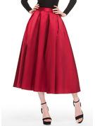 A-Line/Princess Tea-Length Satin Cocktail Dress