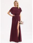 Sheath Short Sleeves Maxi Romantic Sexy Dresses