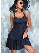 Sólido Escotado por detrás Cubierta Sin mangas Mini Pequeños Negros Casual Vestidos de moda