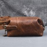 Groom Gaver - Vintage Stil Lær Dopp Kit Bag