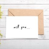Brudepige Gaver - Særlige Iøjnefaldende Pap Papir Bryllupsdagskort