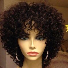 4A non remy Frisé Cheveux humains Perruques capless 150g
