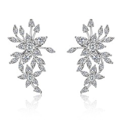 Ladies' Elegant Copper/Zircon Earrings For Bride/For Bridesmaid