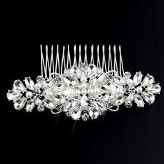 Señoras Encanto Rhinestone/La perla de faux Peines y pasador