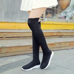 Frauen Keil Absatz Stiefel Stiefel über Knie mit Andere Schuhe