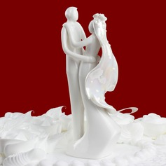 """Sweet Hug"" Ceramic Wedding Cake Topper (119030541)"