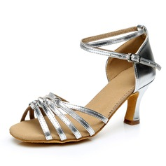Women's Leatherette Heels Sandals Latin With Ankle Strap Dance Shoes (053092238)