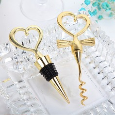 Non-Personalized Hearts Shape Alloy Bottle Stoppers (052124507)