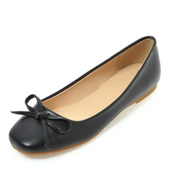 Donna Similpelle Senza tacco Ballerine Punta chiusa con Bowknot scarpe