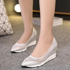 De mujer Cuero Tipo de tacón Cuñas con Otros zapatos