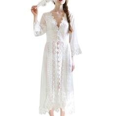 Braut Brautjungfern Spitze mit Knöchellang Roben aus Satin und Spitze
