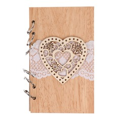 Wooden wedding cutout love notebook