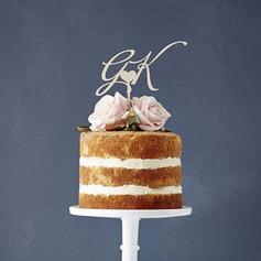 Classic Wood Cake Topper