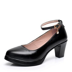 Vrouwen Echt leer Hakken Ballroom Character Shoes Dansschoenen