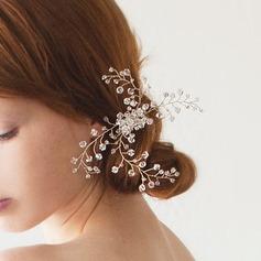 Señoras Precioso Crystal/Aleación/La perla de faux Peines y pasador