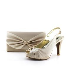 Élégante Satiné Chaussures et Sacs assortis