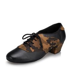 Hommes Vrai cuir Talons Latin Salle de bal Swing Pratique Chaussures de Caractère avec Dentelle Chaussures de danse