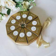 Evig Kjærlighet Cubic Kort papir Favoritt Esker med Blomst(er)