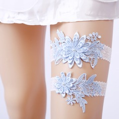 2-Piece/Elegant Lace With Flower Wedding Garters