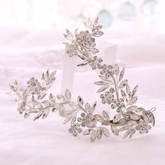 Señoras Glamorosa Rhinestone/cobre Diademas (Se venden en una sola pieza)
