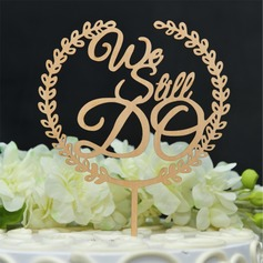 We Do Wood Cake Topper