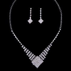 Sparking Alloy/Rhinestones Ladies' Jewelry Sets