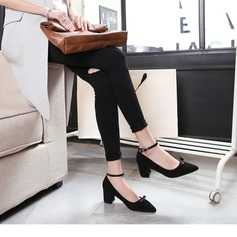 Femmes Suède Talon bottier Escarpins avec Bowknot chaussures