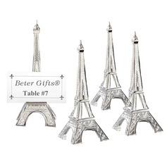 De Eiffeltoren Ontwerp Legering Place-kaarthouders