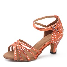Satin Heels Latin Dance Shoes