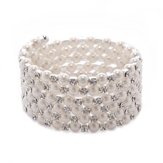 Strand Pearl With Rhinestone Ladies' Bracelets