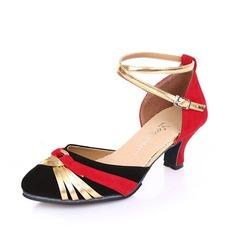 De mujer Tejido Sandalias Sala de Baile con Tira de tobillo Zapatos de danza
