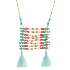 Lovely Imitation Pearls With Tassels Ladies' Fashion Necklace