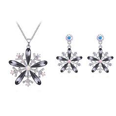 Ladies ' Bardzo Stop/Platinum Plated Z Kształt kamieniaMarkiza Austriacki kryształ Zestawy biżuterii Ją/Druhna